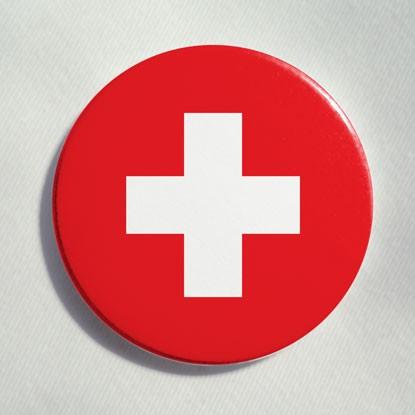 """Button """"Schweiz"""""""