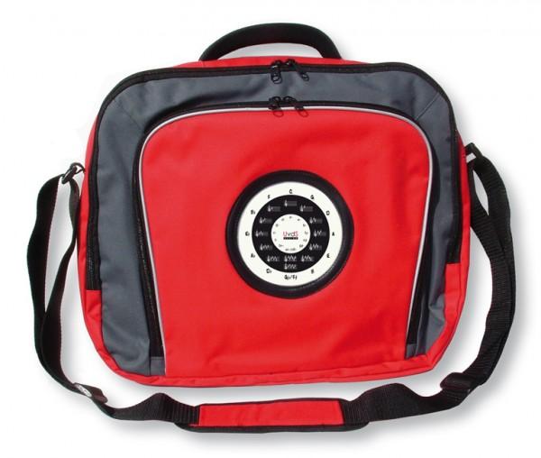 """Laptop-Tasche mit """"Quintenzirkel und Esel"""", rot"""