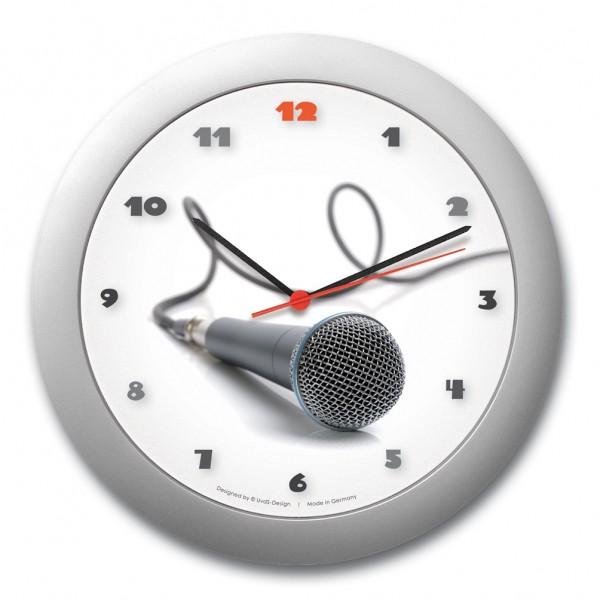 """Wanduhr """"Mikrofon"""""""