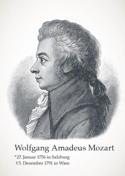 "Postkarte ""Wolfgang Amadeus Mozart"""