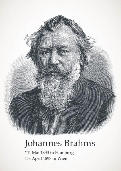 "Postkarte ""Johannes Brahms"""