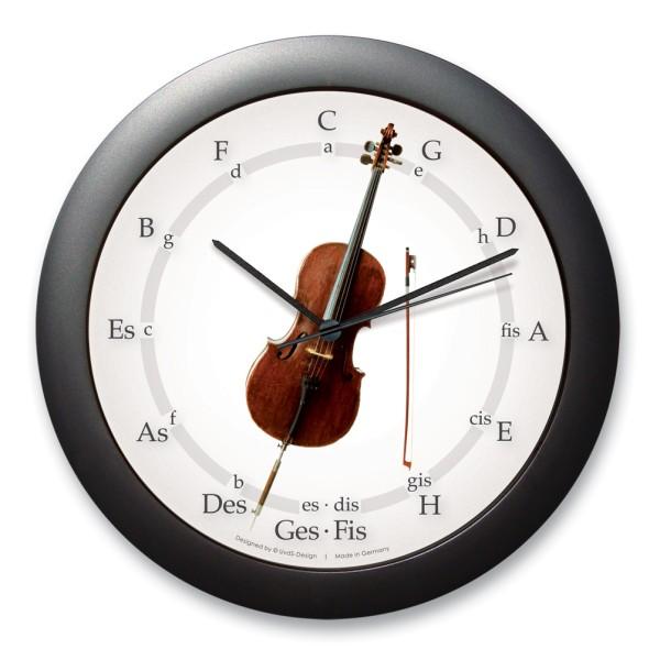 """Quintenzirkeluhr """"Altes Cello"""""""