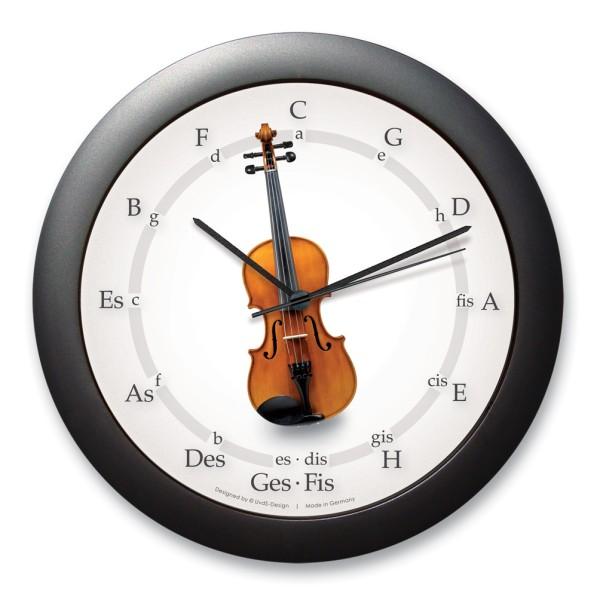 "Quintenzirkeluhr ""Geige"""
