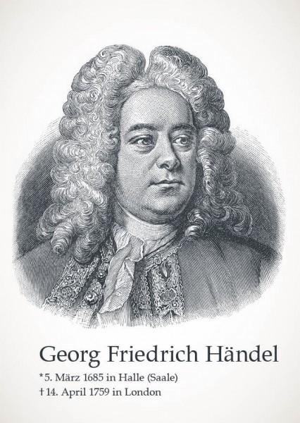"""Postkarte """"Georg Friedrich Händel"""""""
