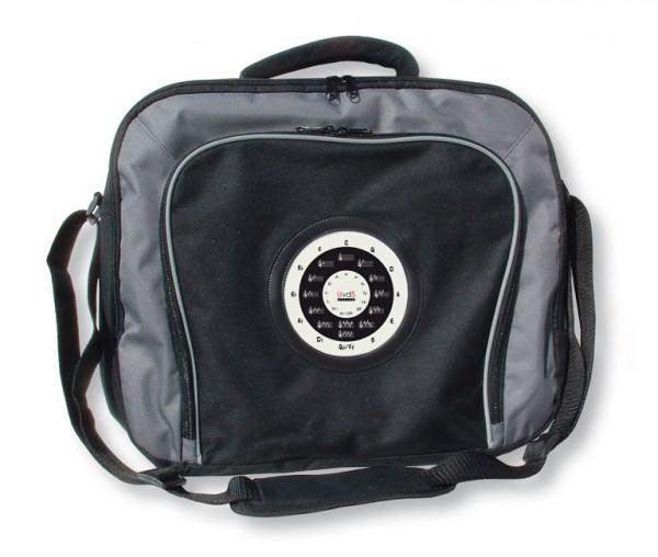 """Laptop-Tasche mit """"Quintenzirkel und Esel"""", schwarz"""