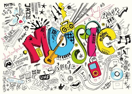 """Postkarte """"Music"""""""