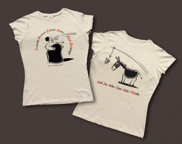 """T-Shirt für Damen """"Diva und Esel"""""""