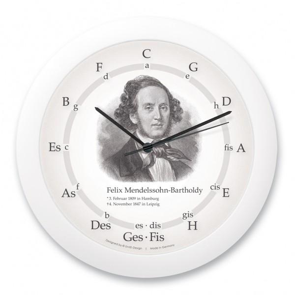"""Quintenzirkeluhr """"Felix Mendelssohn-Bartholdy"""""""