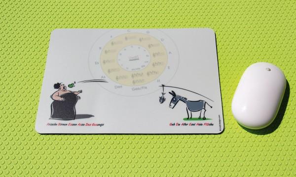 "Mousepad ""Esel und Diva"" mit Quintenzirkel"