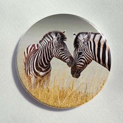 "Button ""Zebras"""