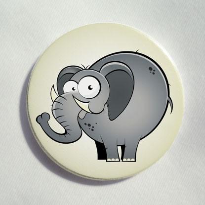 """Button """"lustiger Elefant"""""""