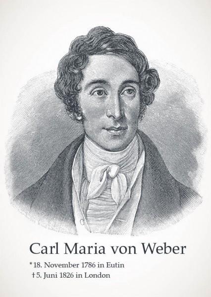"Postkarte ""Carl Maria von Weber"""