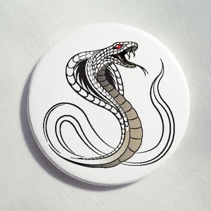 """Button """"zischende Cobra"""""""