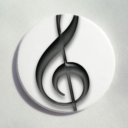 """Button """"Violinschlüssel"""""""