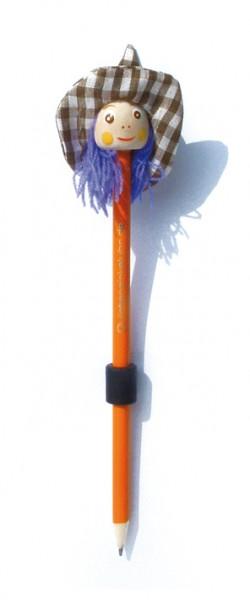 """Bleistift-Magnet """"Hexenkopf"""", orange"""