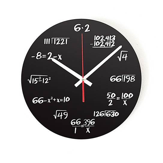 "Wanduhr ""Mathematik"""