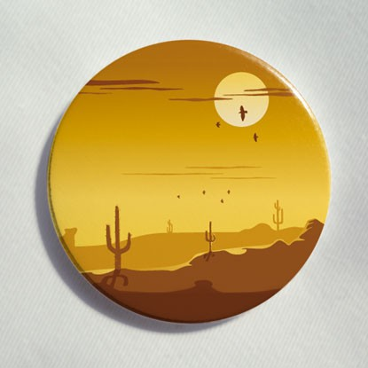 "Button ""Wild West"""