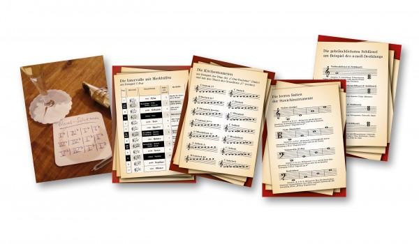 Musiktheorie-Postkarten-Set gemischt (10 Stück)