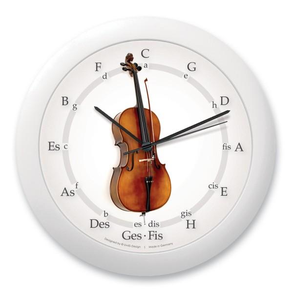 """Quintenzirkeluhr """"Cello mit kurzem Stachel"""""""