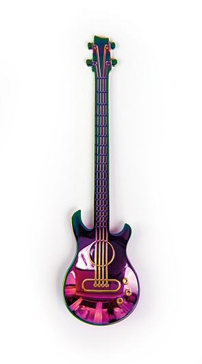 "Löffel ""E-Gitarre"" regenbogenfarben"
