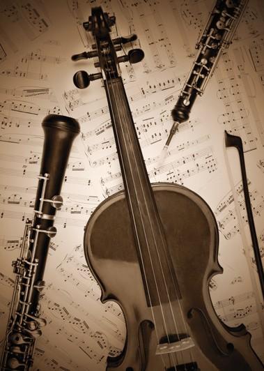 """Postkarte """"Geige und Oboen"""""""