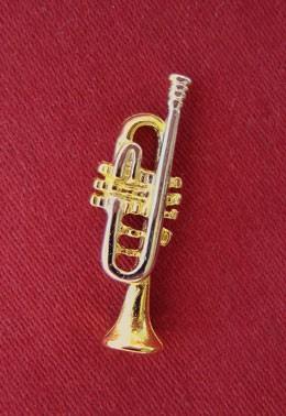 """Trompete"" als Pin"