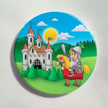 """Button """"Die bunte Ritterburg"""""""