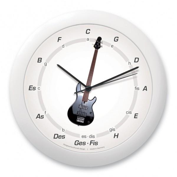 "Quintenzirkeluhr ""E-Gitarre"", schwarz"