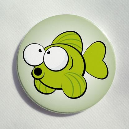 """Button """"kleiner Fisch"""""""