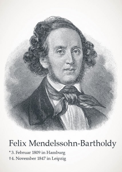 "Postkarte ""Felix Meldelssohn-Batholdy"""