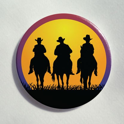 "Button ""Drei Cowboys"""