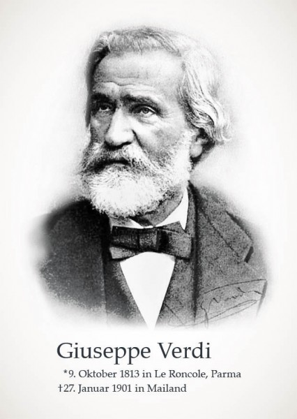 "Postkarte ""Giuseppe Verdi"""