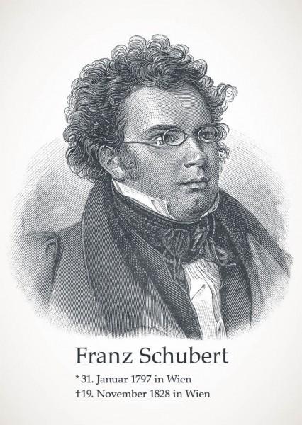 """Postkarte """"Franz Schubert"""""""