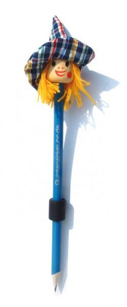 "Bleistift-Magnet ""Hexenkopf"", blau"