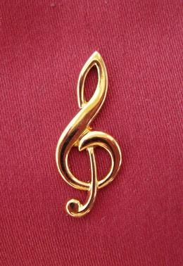 """Großer Violinschlüssel"" als Pin"