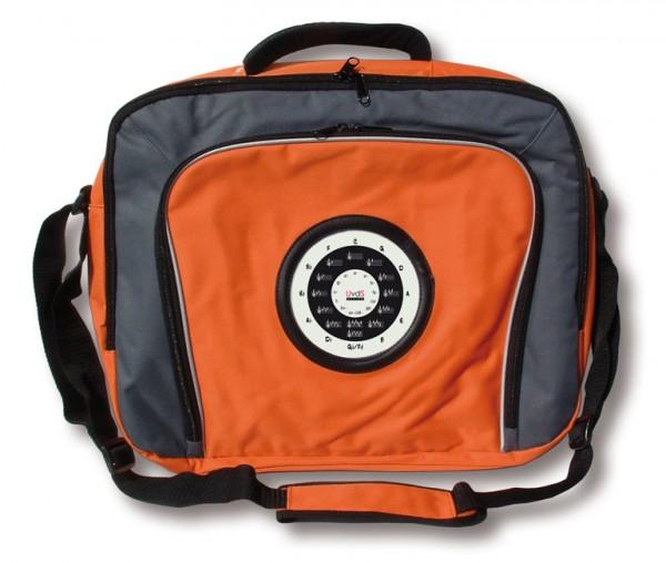 """Laptop-Tasche mit """"Quintenzirkel und Esel"""", orange"""