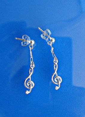 """""""Violinschlüssel"""" als Ohrringe"""