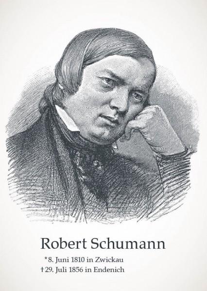 """Postkarte """"Rober Schumann"""""""