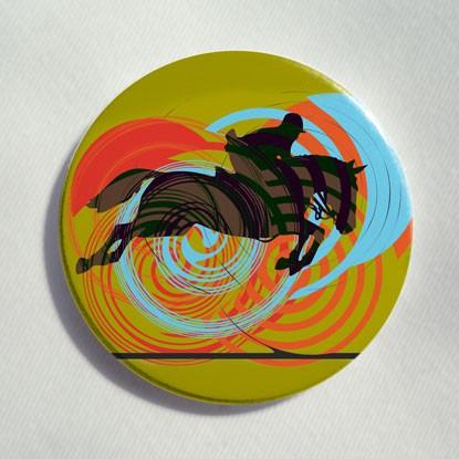 "Button ""Reiter in Farbe"""