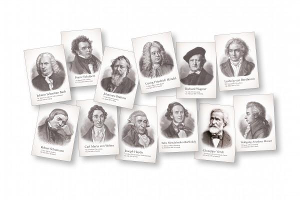 Komponisten-Postkartenset (12 Stück)