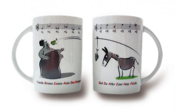 """Tasse """"Esel und Diva"""""""