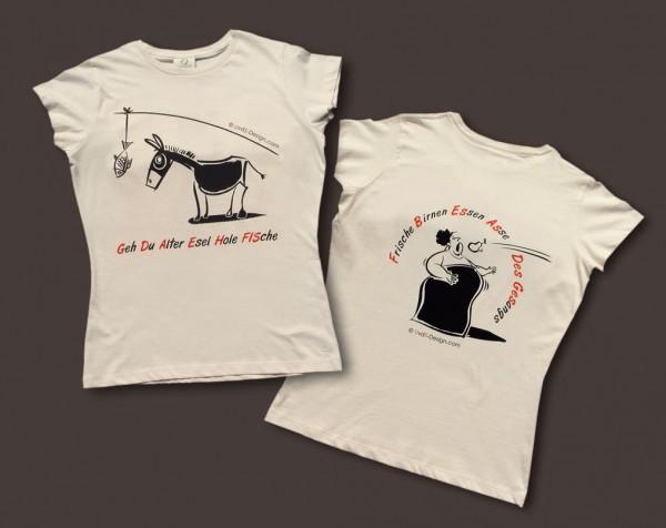 """T-Shirt für Damen """"Esel und Diva"""""""
