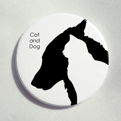 """Button """"Cat and Dog"""""""