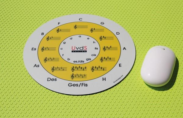 "Mousepad ""Quintenzirkel"" Classic gelb"