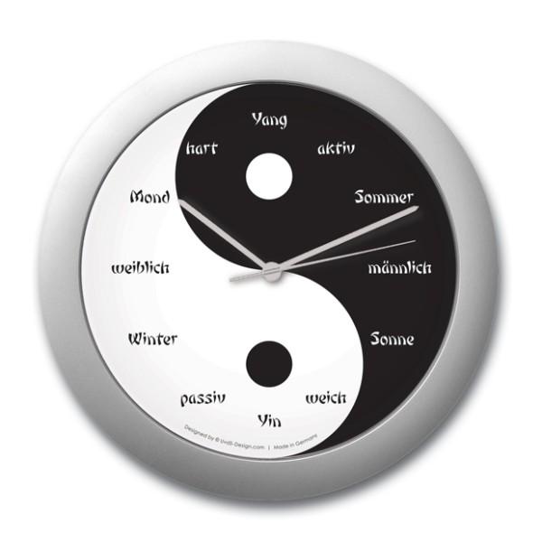 """Wanduhr """"Yin und Yang"""""""