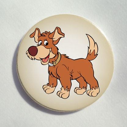 """Button """"kleiner lustiger Hund"""""""
