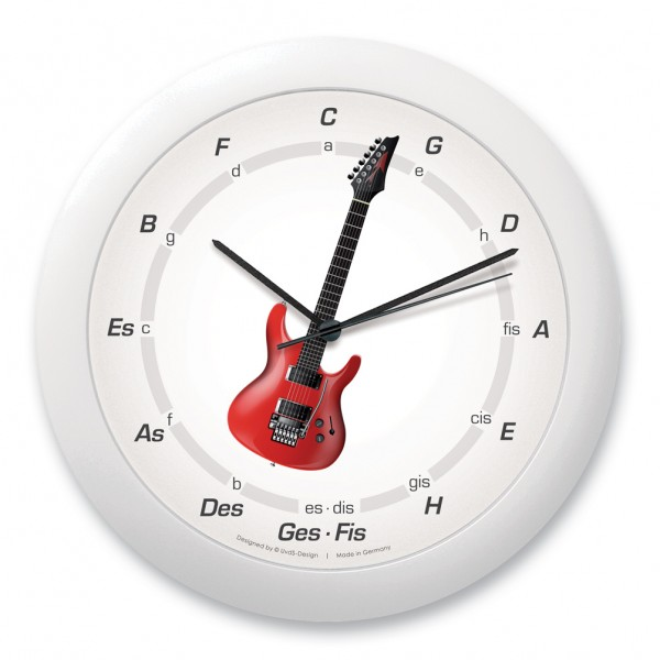 "Quintenzirkeluhr ""E-Gitarre"", rot"