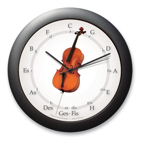"""Quintenzirkeluhr """"Cello mit langem Stachel"""""""