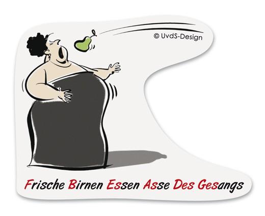 """Aufkleber """"Diva"""", transparent"""
