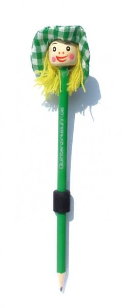 """Bleistift-Magnet """"Hexenkopf"""", grün"""